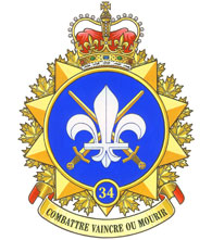34 Canadian Brigade Group Badge
