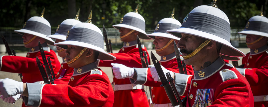 Slide - Canadian Army Mounting the Queen's Guard in London