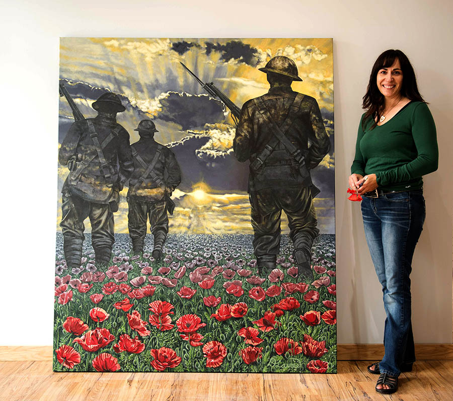 Deanna Lavoie is pictured with The Journey to Remembrance in 2015