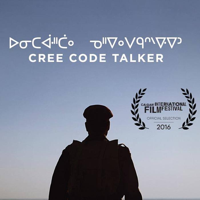 The Cree Code Talker poster for the 2016 Calgary International Film Festival. Photo: Courtesy of Alex Lazarowich