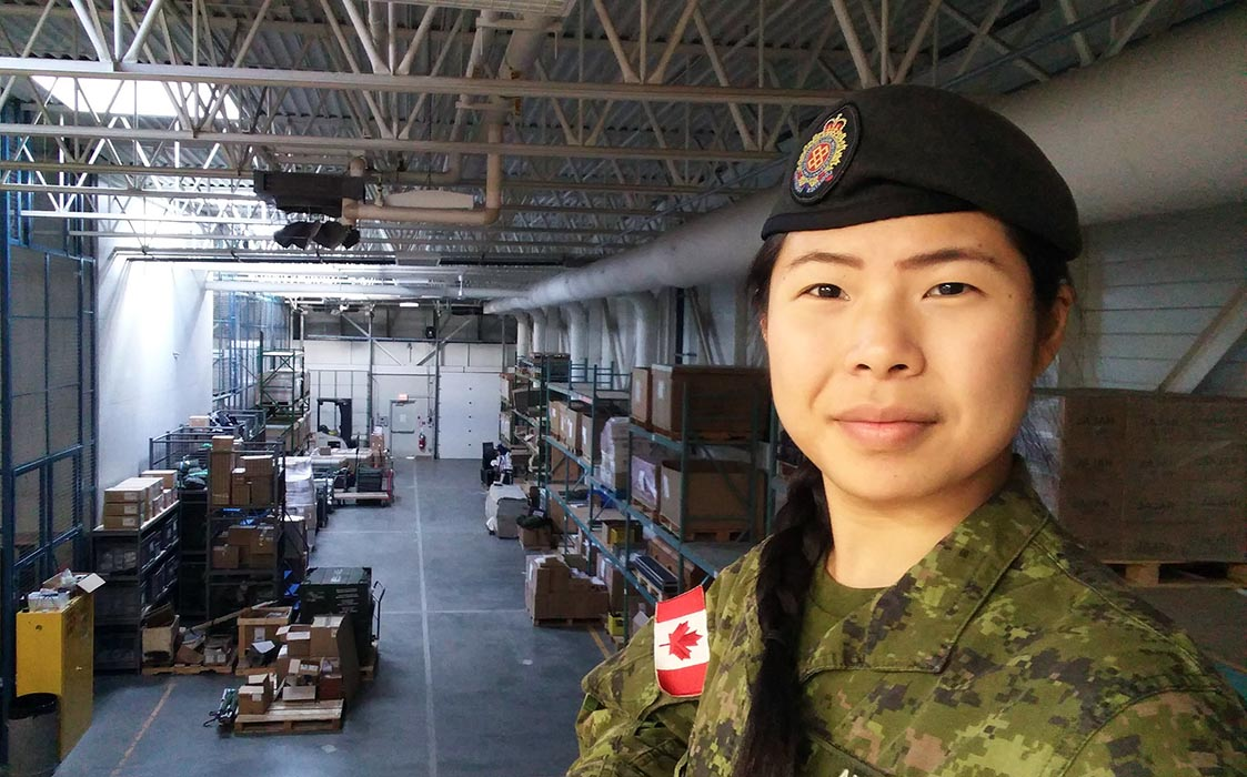 Canadian Army Reservist Sergeant Amelia Chia