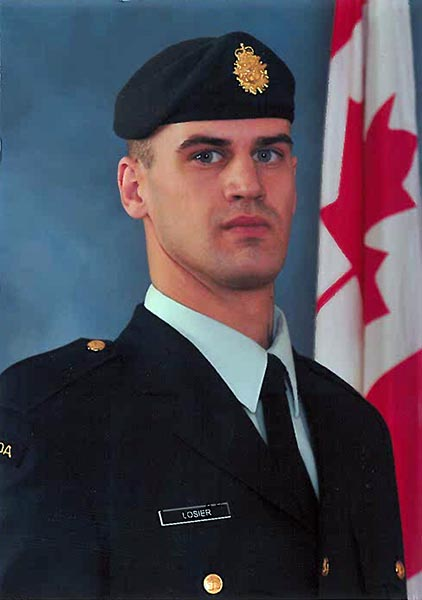 MCpl Danny Losier's graduation from Basic Training at the beginning of his career in the Artillery with 5e Régiment d'artillerie légère du Canada. Photo provided by Carole Richer.
