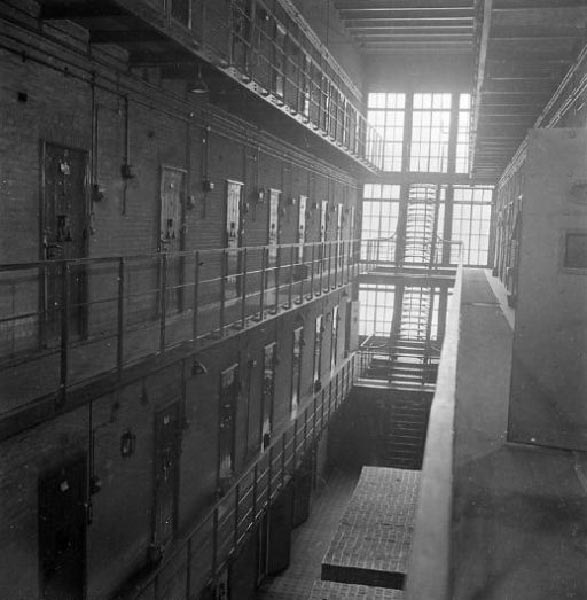 Inside of Weteringschans Prison. Provided by Library Archives Canada