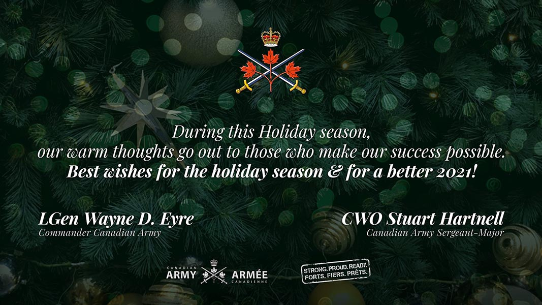 Happy Holidays from the Canadian Army Command Team