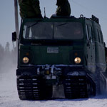 The BV 206 Tracked Carrier is an all-terrain transport vehicle.