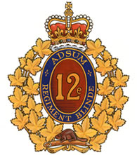 12e Régiment blindé du Canada badge
