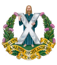 Queen's Own Cameron Highlanders of Canada badge