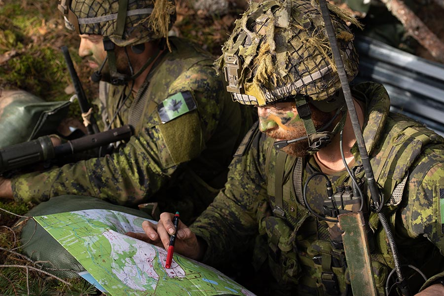 Training with the Latvian Mechanized Infantry Brigade